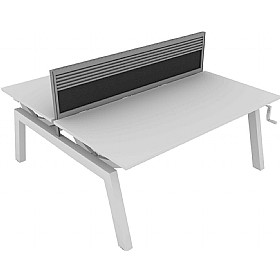 Elite Linnea Elevate Double Bench Fabric Screens With Management Rail £0 - Office Screens
