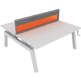 Elite Linnea Elevate Double Bench Acrylic Screens With Management Rail £0 - Office Screens