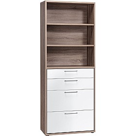 Venture Tall Combination Unit WIth Drawers £279 - Home Office Furniture
