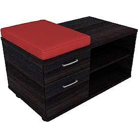 Elite Linnea Mobile Pedestal And Storage Units With Seat Pad £551 - Office Desks
