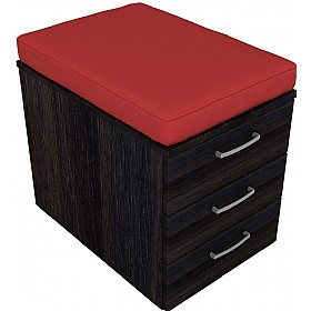 Elite Linnea Low Mobile Pedestals With Seat Pad £268 - Office Desks