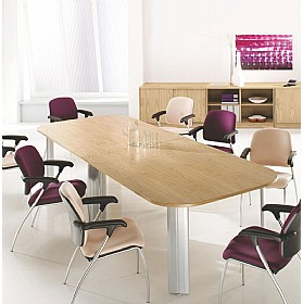 Elite Kassini Double D End Boardroom Tables £1583 - Office Desks