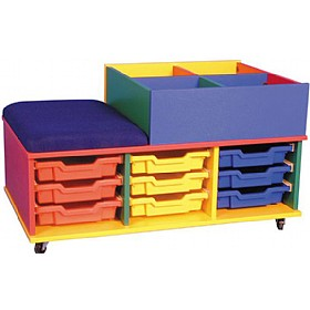 Mobile Seat & Tray Storage Kinderbox £0 - Education Furniture