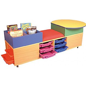 Mobile Kinder Seat Tray & Activity Storage Unit £0 - Education Furniture