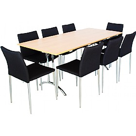 6ft Rectangular Folding Table with 8x Chairs £680 - Bistro Furniture
