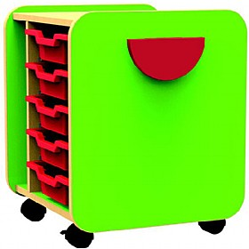 Funky Single Pull-Out 5 Tray Unit £0 - Education Furniture