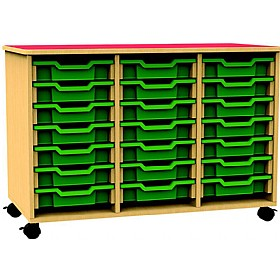 Funky Triple Bay Mobile Shallow Tray Unit £276 - Education Furniture