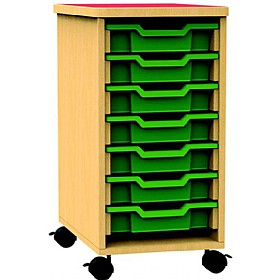 Funky Single Bay Mobile Tray Unit £0 - Education Furniture