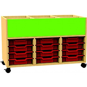 Funky Triple Bay Tray Storage With Book Browser £282 - Education Furniture