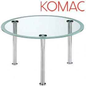Komac Vox Round Glass Coffee Table £487 - Reception Furniture