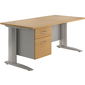 NEXT DAY Force Single Fixed Pedestal Desks £277 - Next Day Office Furniture