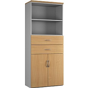 NEXT DAY Force Double Door Combination Cupboard With Drawers And Shelves £257 - Next Day Office Furniture