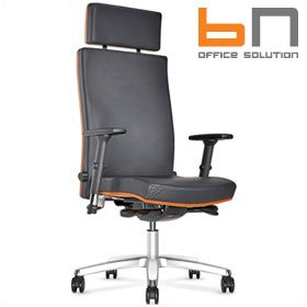BN Diplomat Premium Luxury Leather Executive Armchair With Headrest £428 - Office Chairs
