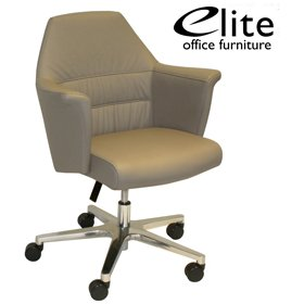 Elite Aspire Medium Back Panelled Leather Luxury Armchair £1059 - Office Chairs