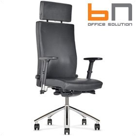 BN Diplomat Luxury Leather Executive Armchair With Headrest £437 - Office Chairs