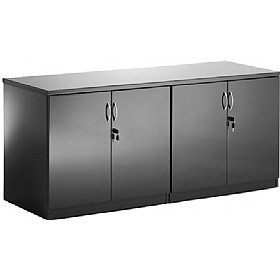 Black Lumina High Gloss Credenza Unit £635 - Meeting Room Furniture
