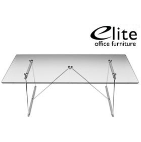 Elite Glass Rectangular Coffee Table £268 - Reception Furniture