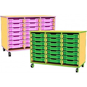 Edge Triple Bay Mobile Shallow Tray Units £232 - Education Furniture