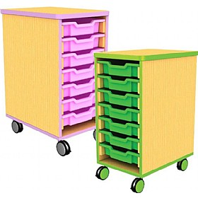 Edge Single Bay Mobile Shallow Tray Units £0 - Education Furniture
