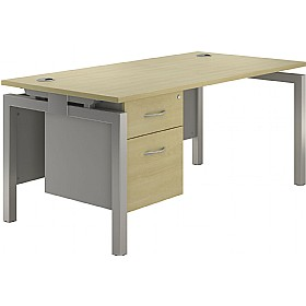 NEXT DAY Spark Rectangular Bench Desks With Fixed Pedestal £306 - Next Day Office Furniture