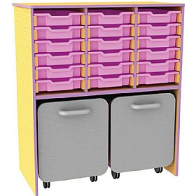 Edge 18 Tray Storage Unit With Docking Space £0 - Education Furniture