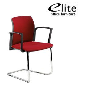 Elite Leola Upholstered Cantilever Stacking Chair £183 - Office Chairs