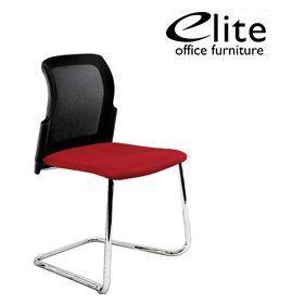Elite Leola Mesh Back Cantilever Stacking Chair