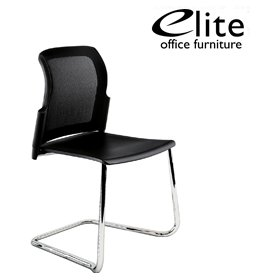 Elite Leola Mesh Back Polypropylene Cantilever Stacking Chair £165 - Office Chairs