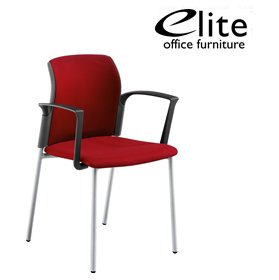 Elite Leola Upholstered 4 Leg Stacking Chair £147 - Office Chairs