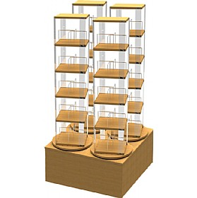 Library Book Spinner Bases £130 - Education Furniture