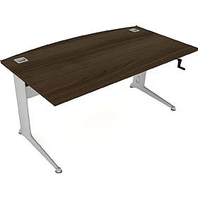 Elite Kassini Height Adjustable Bow Fronted Rectangular Desks £794 - Office Desks