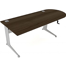 Elite Kassini Height Adjustable D-End Rectangular Desks £866 - Office Desks