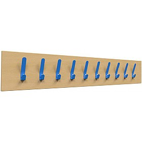 Single Colour Classroom Coat Hook Rails £0 - Education Furniture