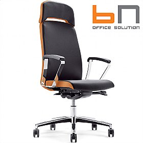 BN Belive Leather Executive Chair With Headrest £442 - Office Chairs