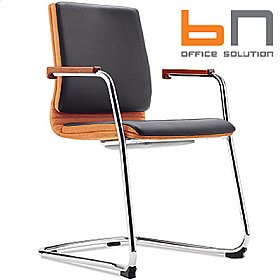 BN Belive Leather Cantilever Conference Chair £318 - Office Chairs