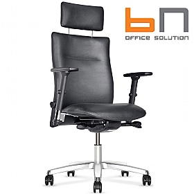 BN Kubik Leather Executive Chair With Headrest £364 - Office Chairs