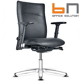 BN Kubik Leather Swivel Conference Chair £299 - Office Chairs