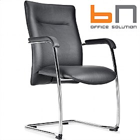 BN Kubik Leather Cantilever Conference Chair £240 - Office Chairs