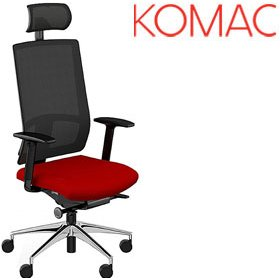 Komac Q Mesh Task Chair With Headrest £269 - Office Chairs