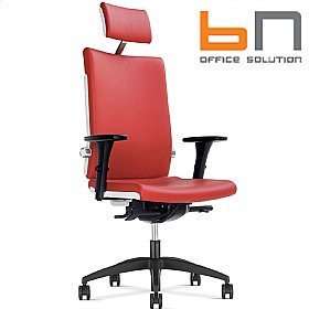 BN Belite Leather Executive Chair With Headrest £370 - Office Chairs