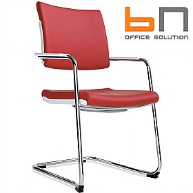 BN Belite Leather High Back Cantilever Conference Chair £237 - Office Chairs