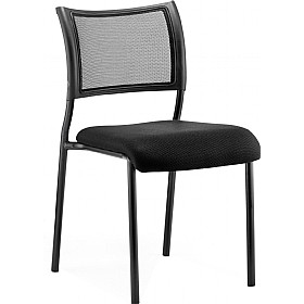 Victoria Black Frame Chair No Arms £73 - Office Chairs