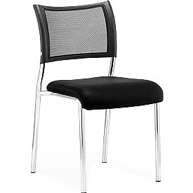 Victoria Chrome Frame Chair No Arms £80 - Office Chairs
