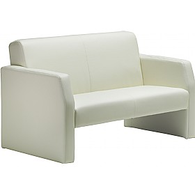 Rest Enviro Leather 2 Seat Sofa Ivory £309 - Reception Furniture