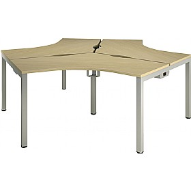 Aspect 120° 3 Way Cluster Desks £970 - Office Desks