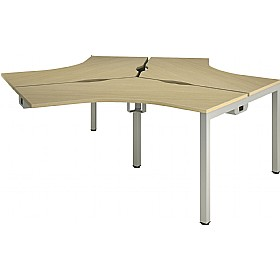 Aspect 120° 3 Way Cluster Add On Desks £917 - Office Desks