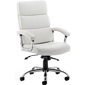 Malo Enviro Leather Executive Chair White £175 - Office Chairs
