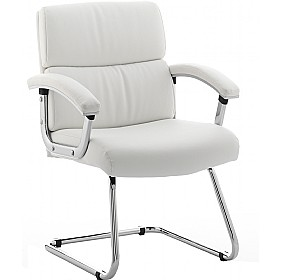 Malo Enviro Leather Visitors Chair White £161 - Office Chairs