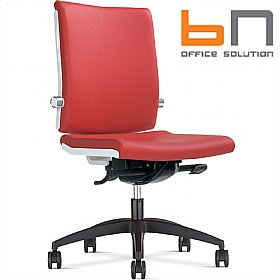 BN Belite Leather Ring Base Swivel Conference Chair £293 - Office Chairs