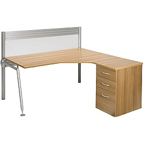 Acclaim Combination Workstation With Screens £899 - Office Desks